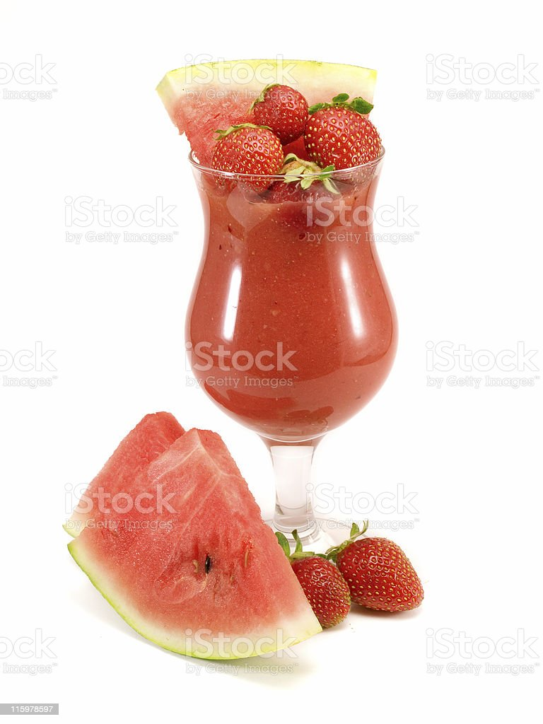 Cocktails Collection - Strawberry and Watermelon Smoothie stock photo