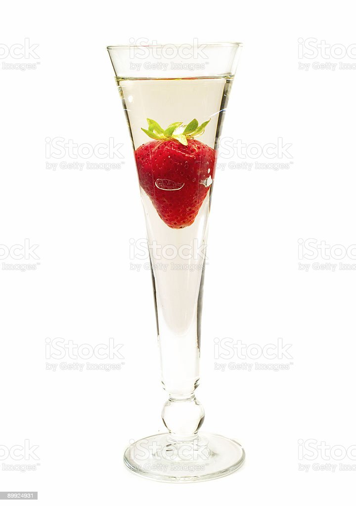 Cocktails Collection - Strawberry Champagne stock photo