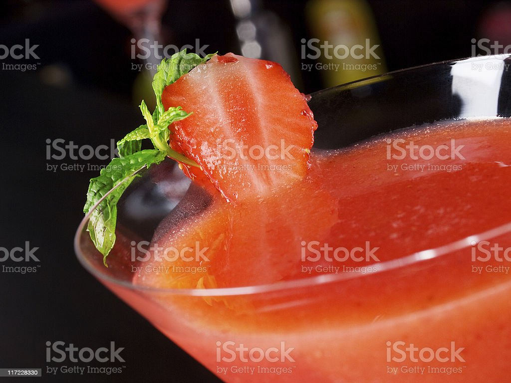 Cocktails Collection - Strawberry Daiquiri royalty-free stock photo