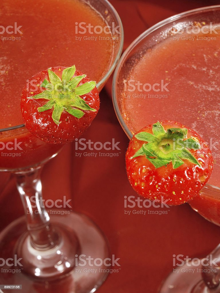 Cocktails Collection - Strawberry Daiquiris stock photo
