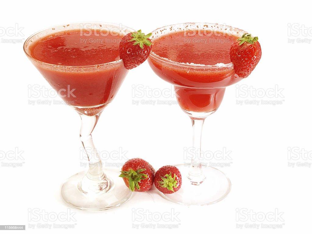 Cocktails Collection - Strawberry Margarita & Daiquiri stock photo