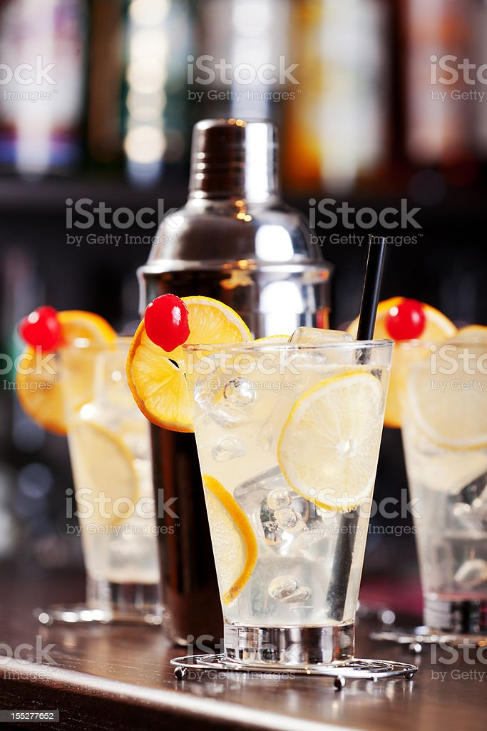 Cocktails Collection - Tom Collins stock photo