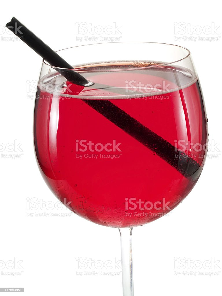 Cocktails Collection - Wine Cooler stock photo