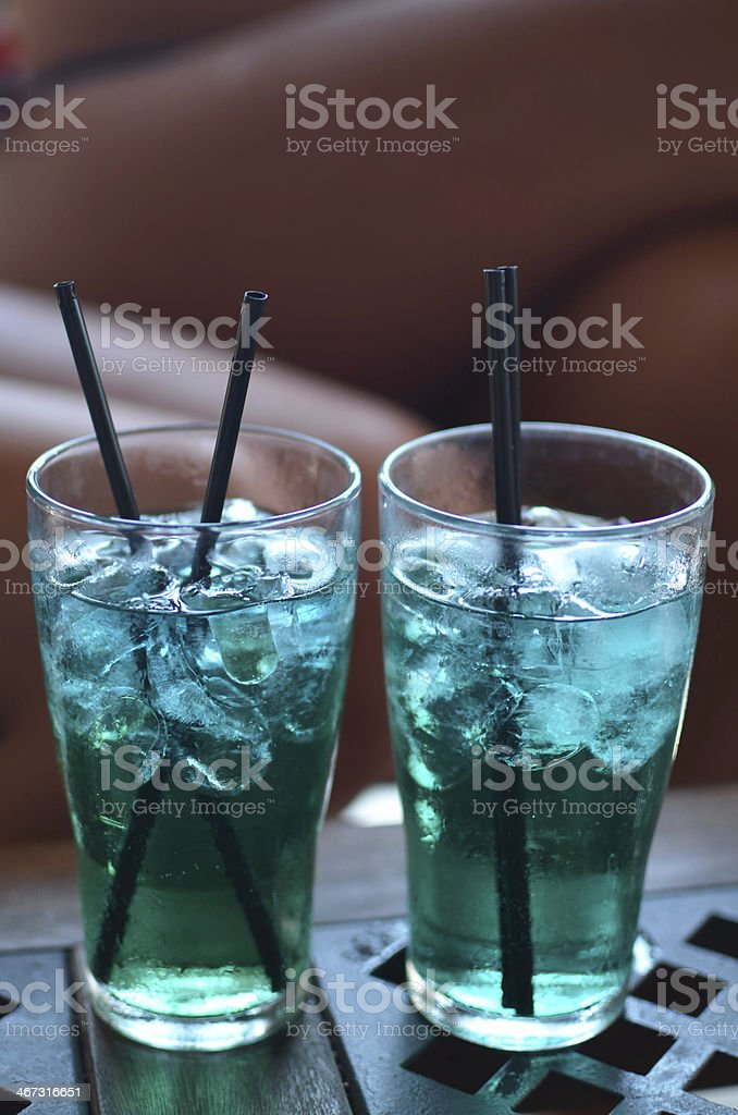 Cocktails in the bar royalty-free stock photo