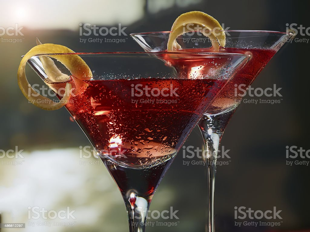 Cocktails in Venice stock photo