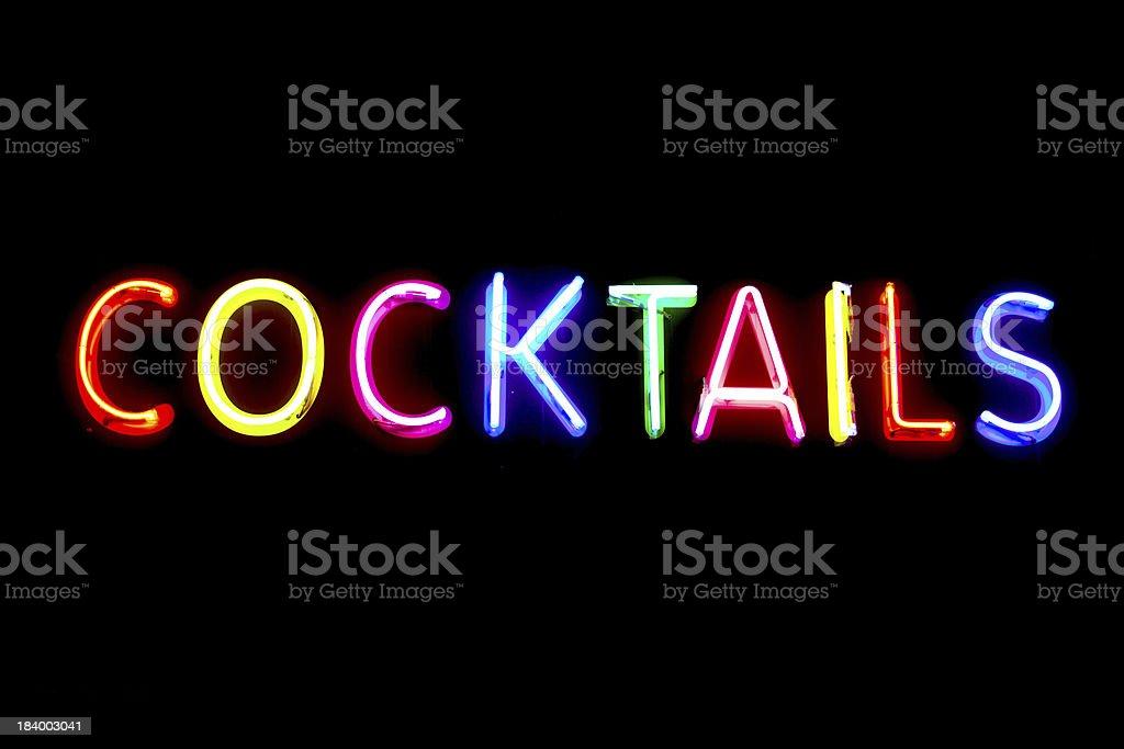 cocktails neon light stock photo