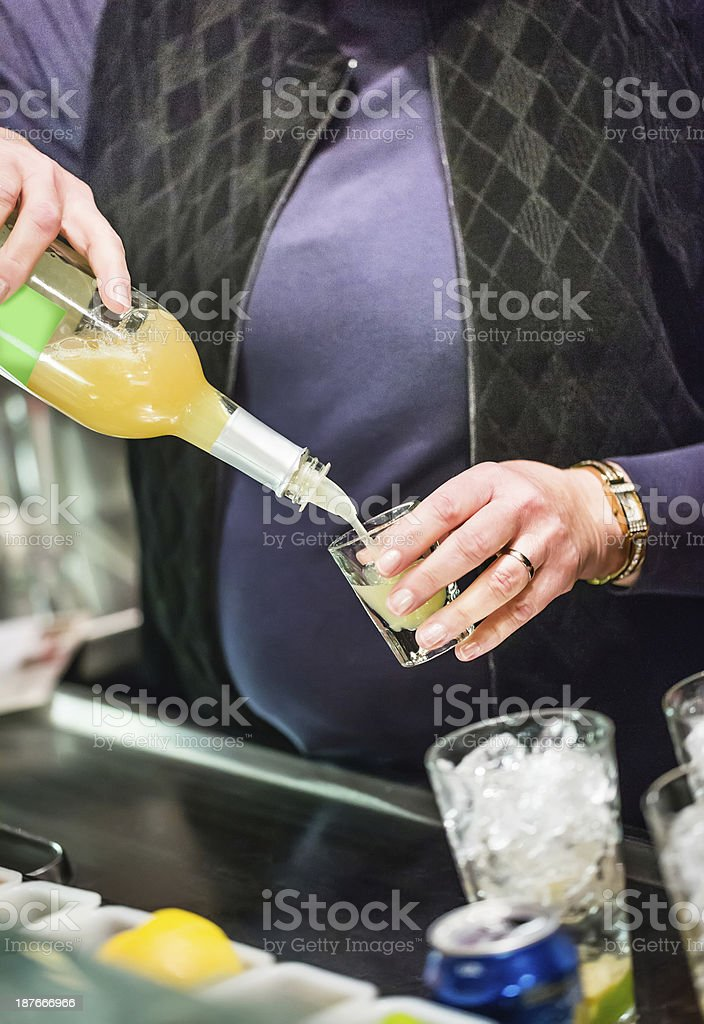 Cocktails New year's Eve royalty-free stock photo