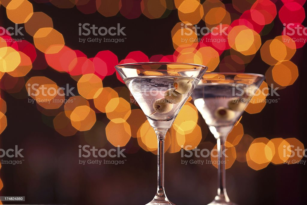 Cocktails on a bar counter royalty-free stock photo