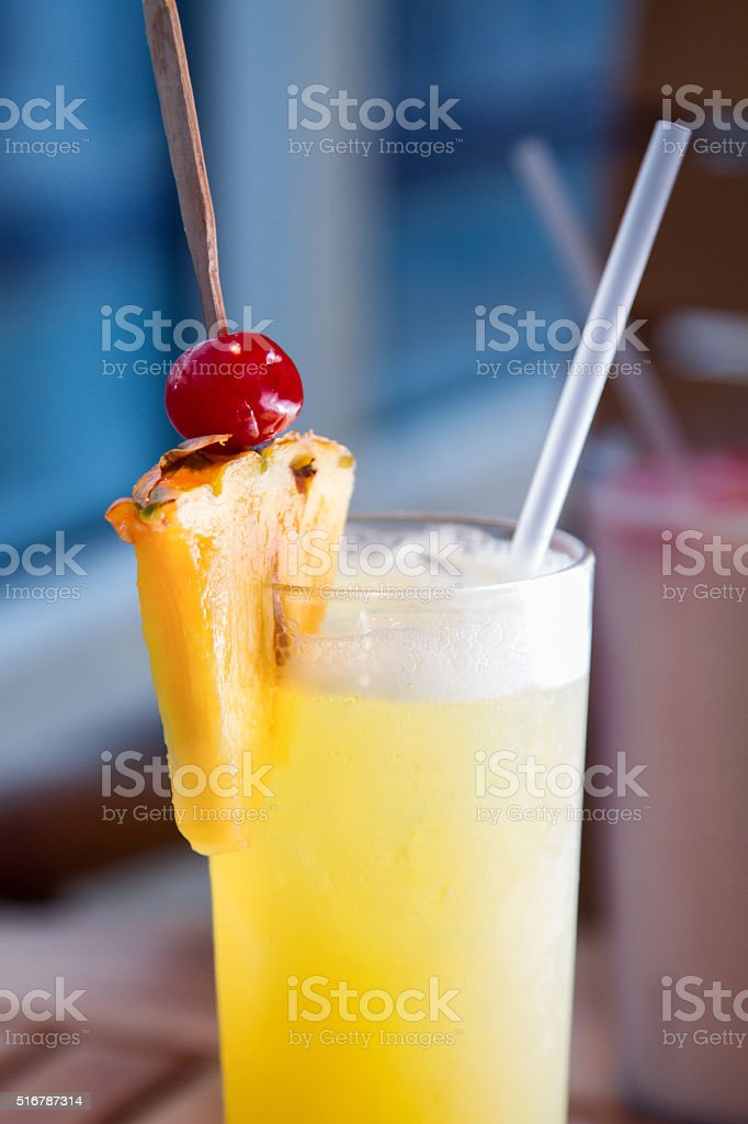 Cocktails on a Cruise Ship stock photo