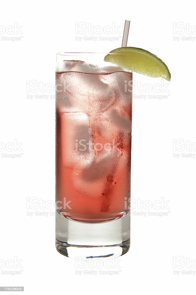 Cocktails on white: Bay Breeze. stock photo