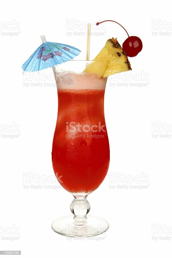 Cocktails on white: Hurricane. royalty-free stock photo