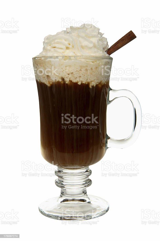 Cocktails on white: Irish Coffee. stock photo
