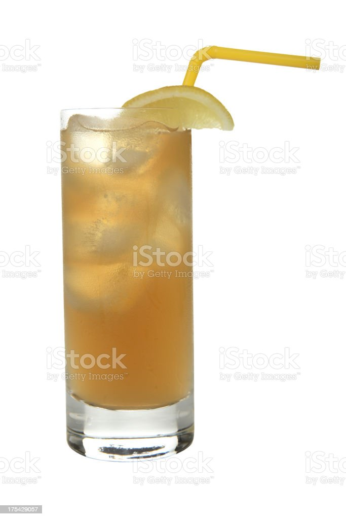 Cocktails on white: Long Island Iced Tea. stock photo