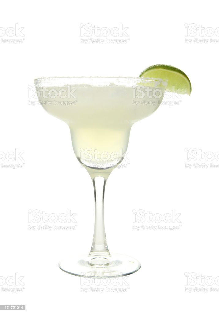 Cocktails on white: Margarita. royalty-free stock photo