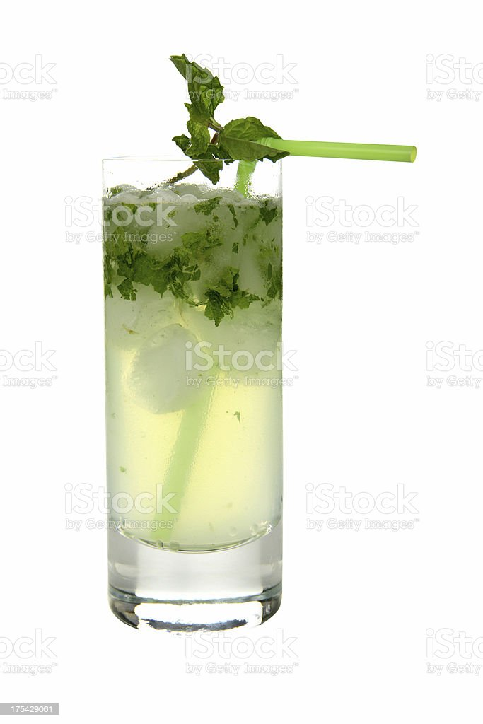 Cocktails on white: Mojito. stock photo