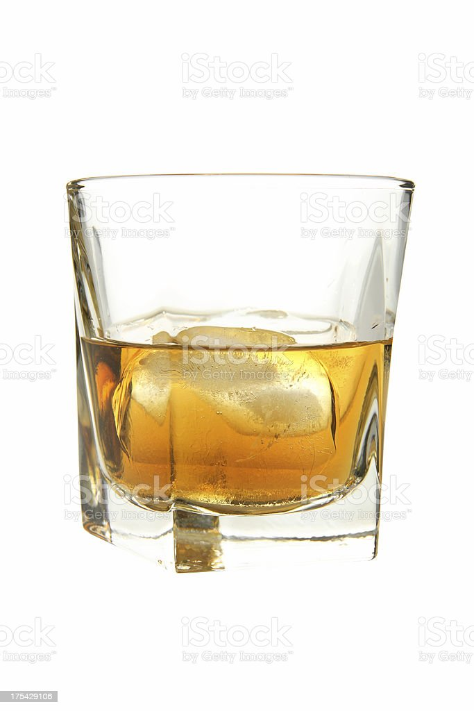 Cocktails on white: Scotch. royalty-free stock photo