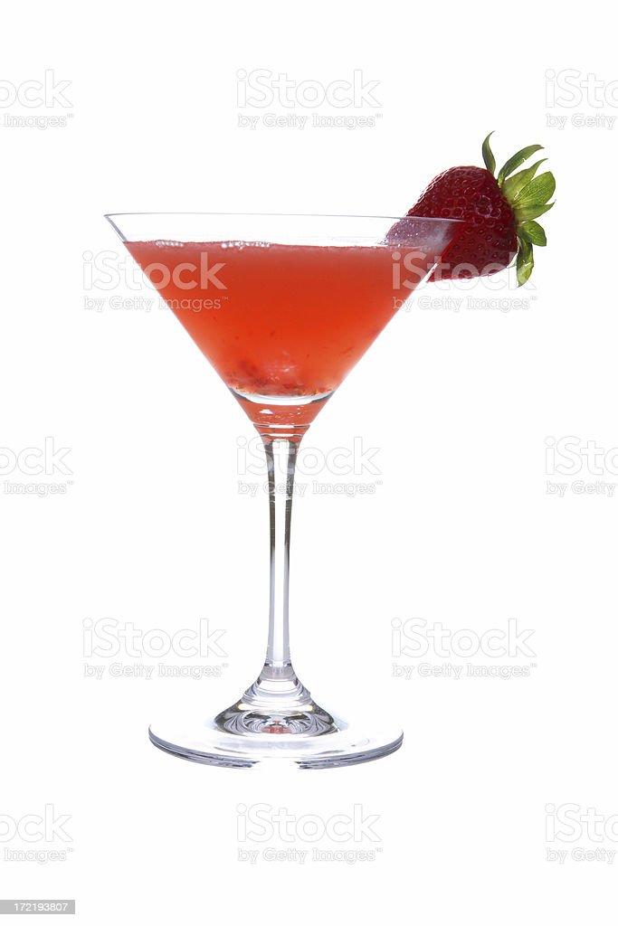 Cocktails on white: Strawberry Cosmopolitan. stock photo