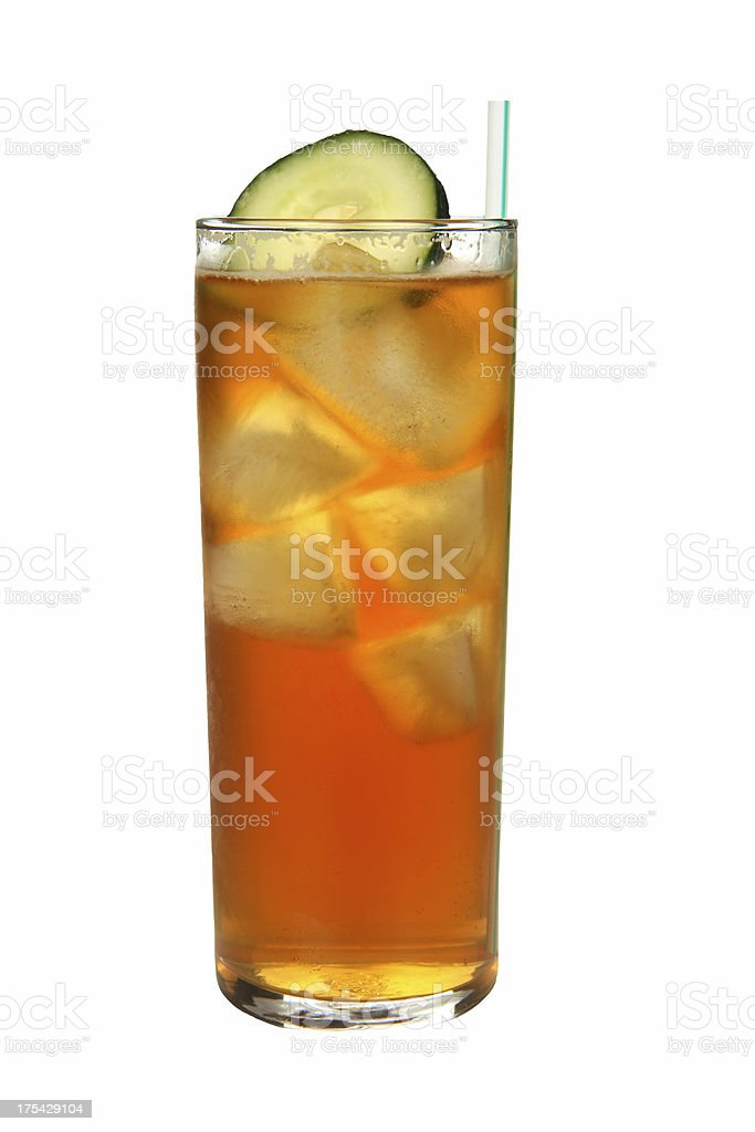 Cocktails on white: Pimms Cup. stock photo