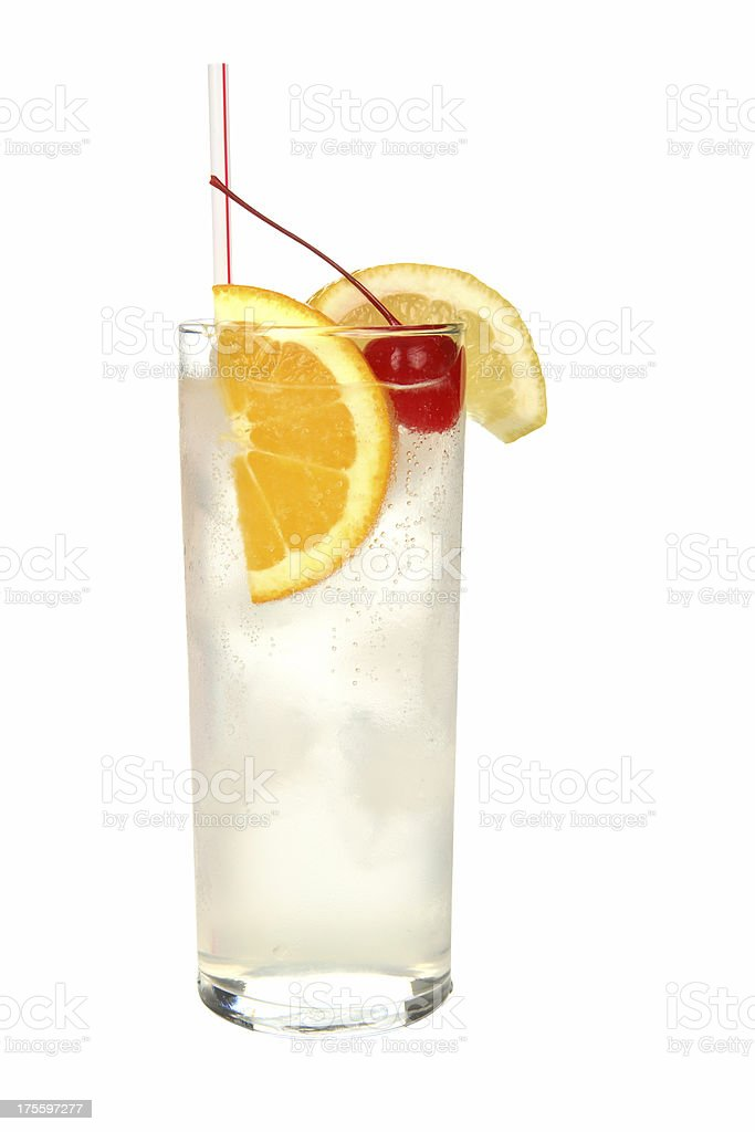 Cocktails on white: Tom Collins. royalty-free stock photo