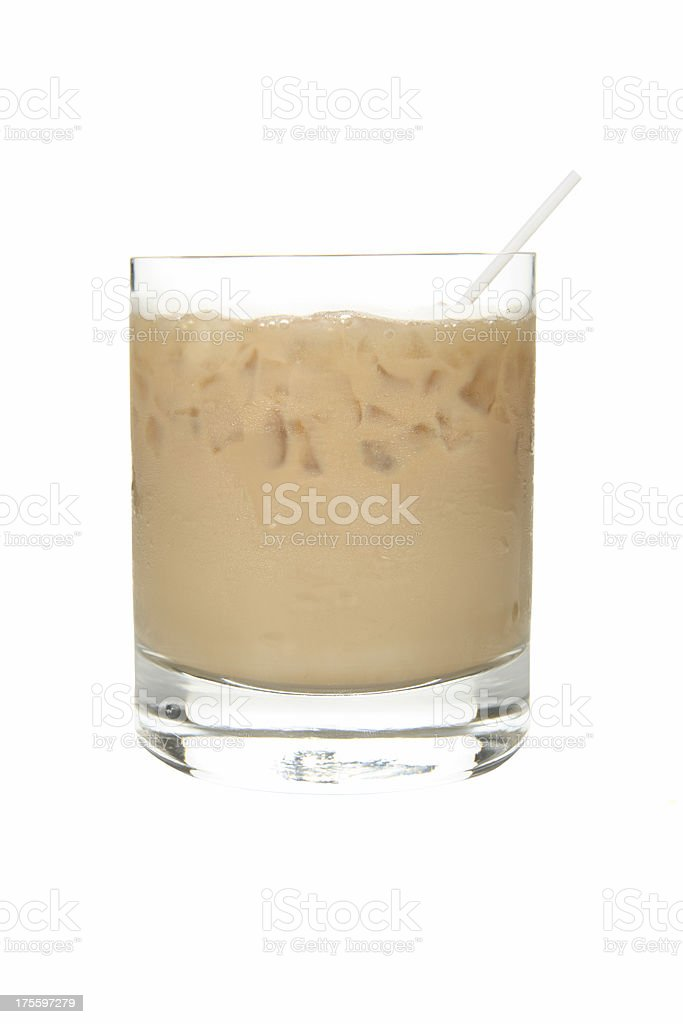 Cocktails on white: Wht Russian stock photo