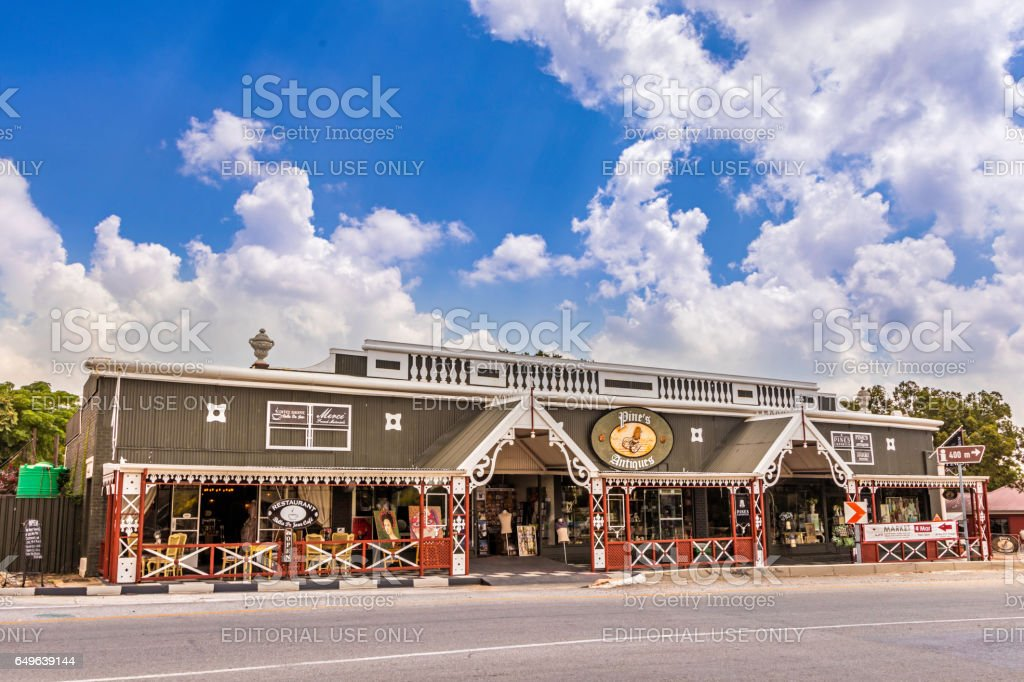 Cocktails restaurant in Parys, South Africa stock photo