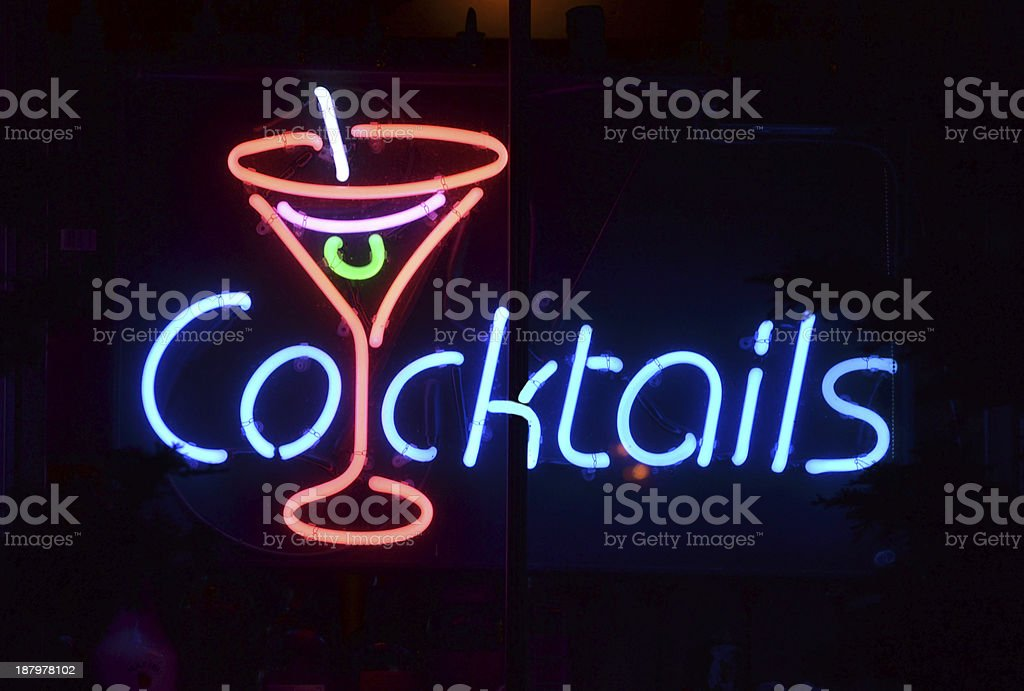 Cocktails Sign stock photo
