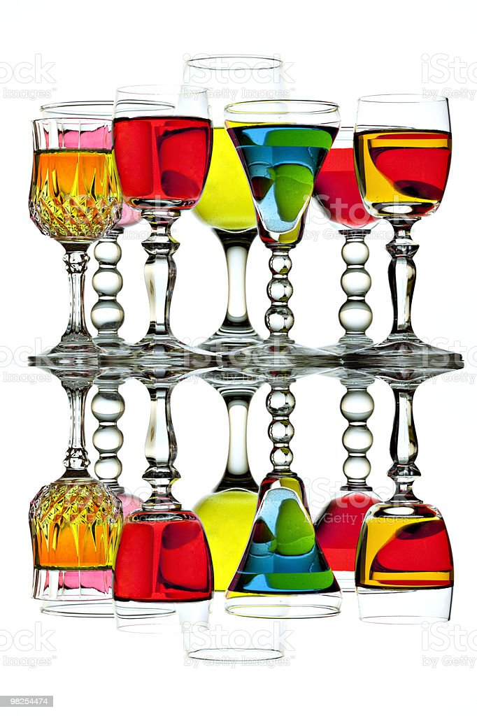 Cocktails with reflections royalty-free stock photo