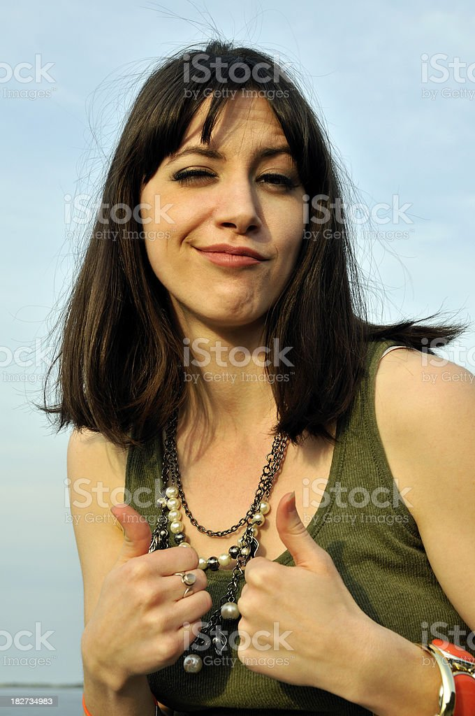 Cocky Girl royalty-free stock photo