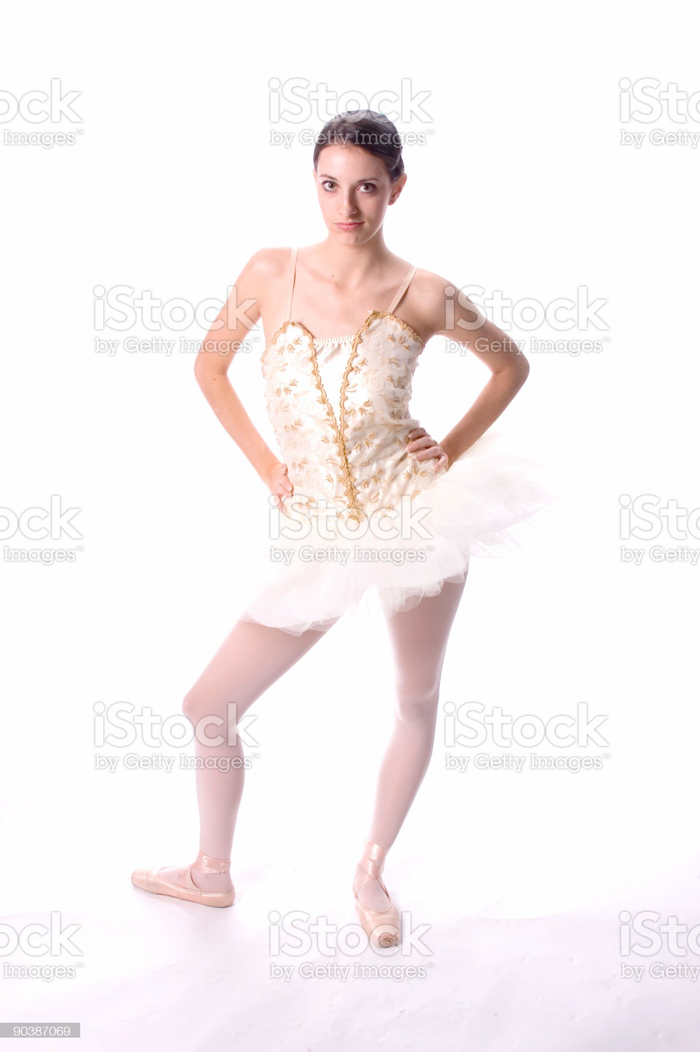 Cocky little dancer royalty-free stock photo