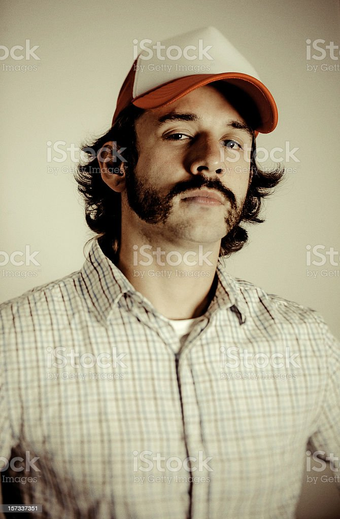 cocky trucker royalty-free stock photo