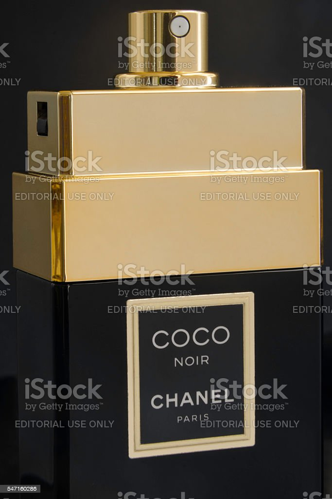 Coco noir Eau de Parfum bottle stock photo