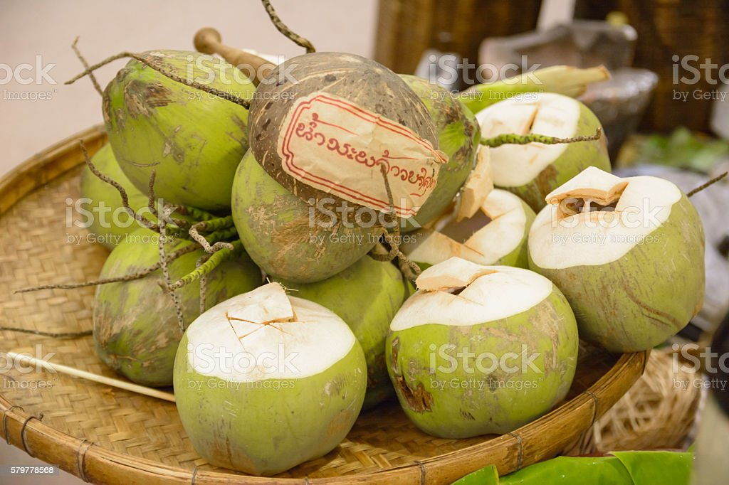 coco nut culture of thailand stock photo