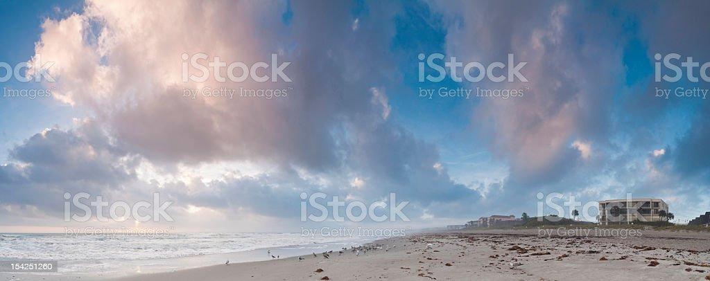 Cocoa Beach cloudscape Florida royalty-free stock photo