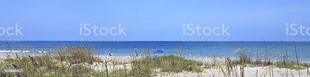 Cocoa Beach Florida Panorama stock photo