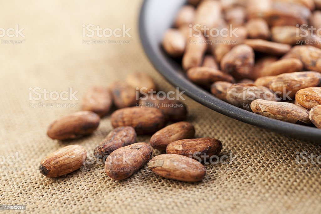 Cocoa Bean in Pan royalty-free stock photo