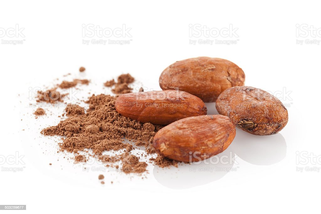 Cocoa Beans royalty-free stock photo