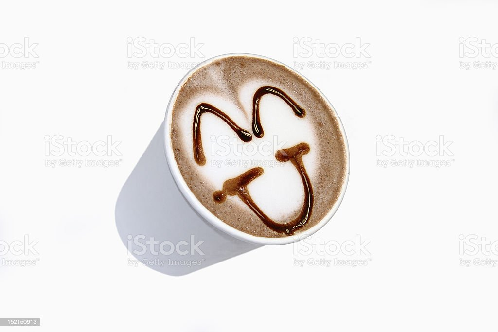 Cocoa, coffee art isolate background royalty-free stock photo