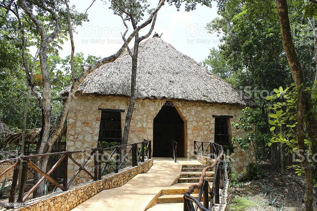Cocoa House in Mexico royalty-free stock photo