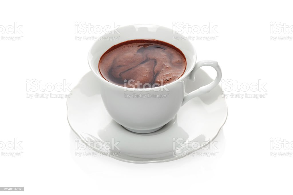Cocoa in a cup stock photo
