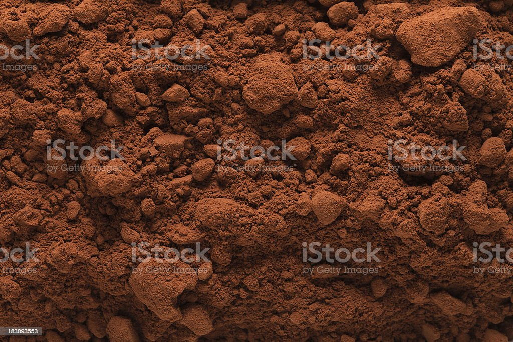 Cocoa Powder Background royalty-free stock photo
