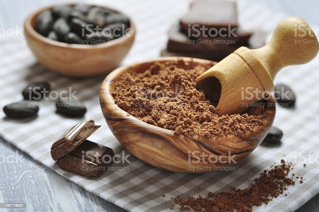 cocoa powder royalty-free stock photo