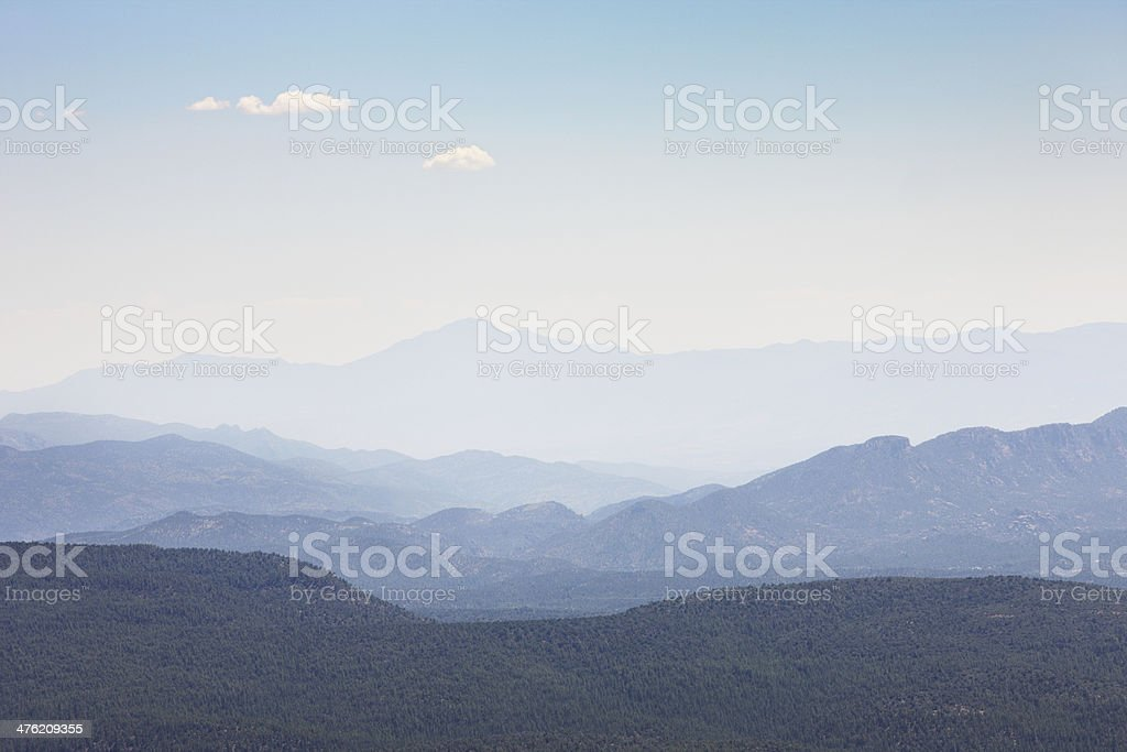 Coconino Forest Haze Wilderness Canyon Landscape stock photo