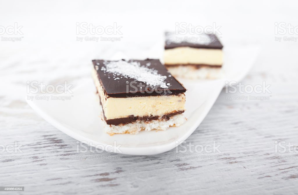 Coconut and Chocolate Cake stock photo