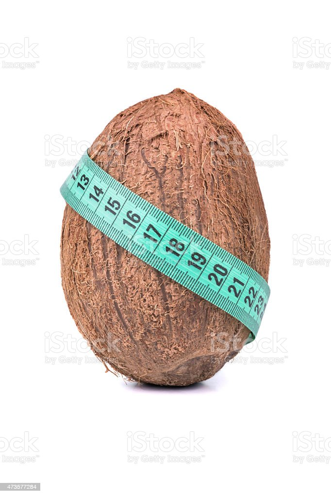 Coconut and meter stock photo