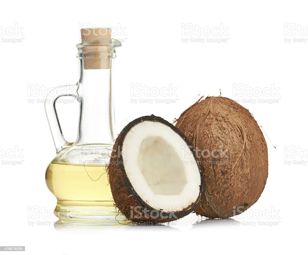 coconut and oil royalty-free stock photo
