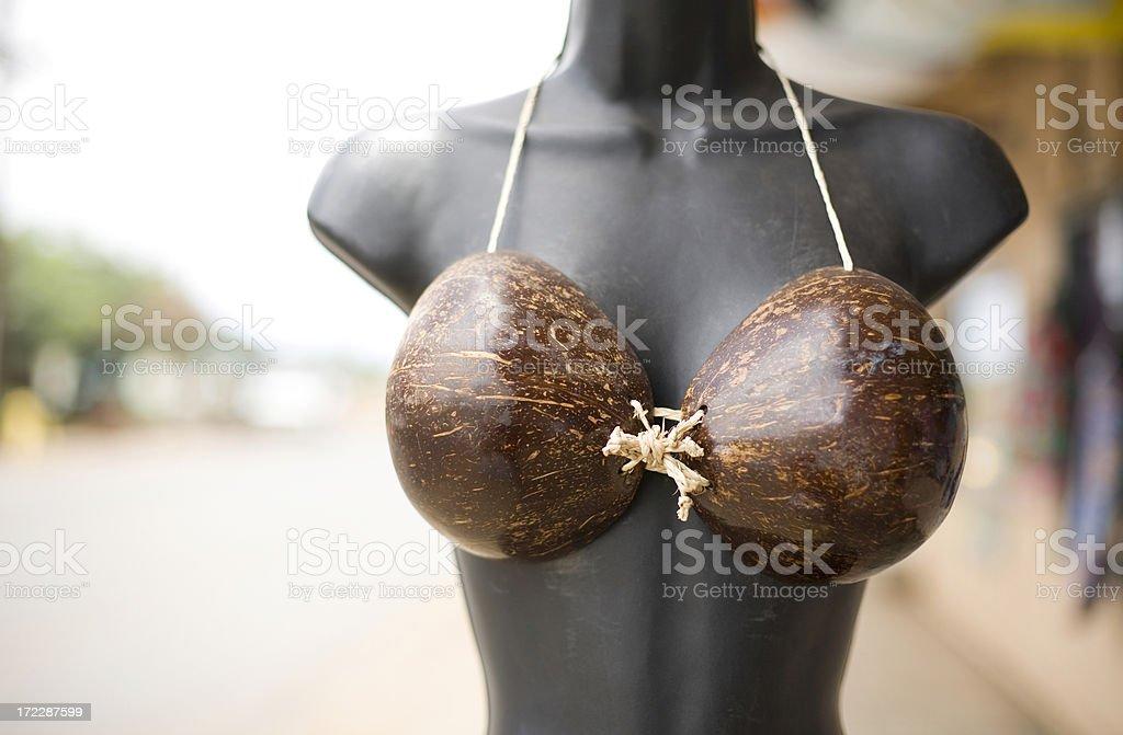 Coconut Bikini on a Mannequin royalty-free stock photo