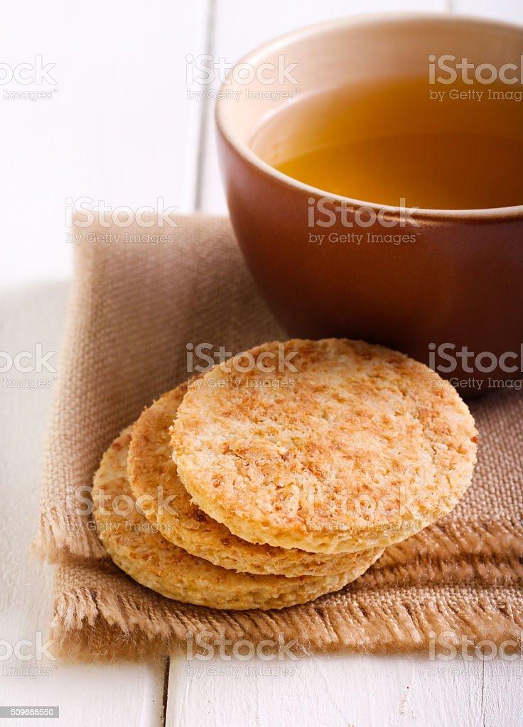 Coconut biscuits stock photo