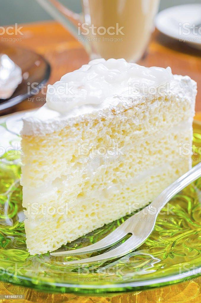 Coconut cake stock photo