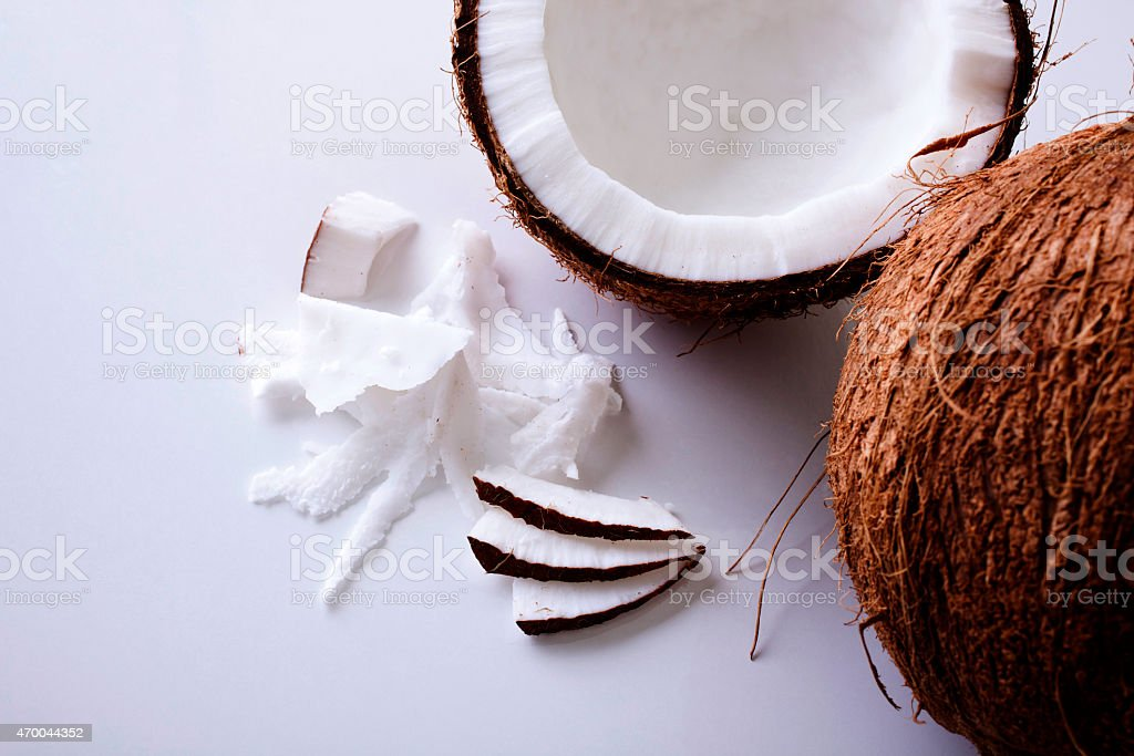 Coconut - close-up texture stock photo