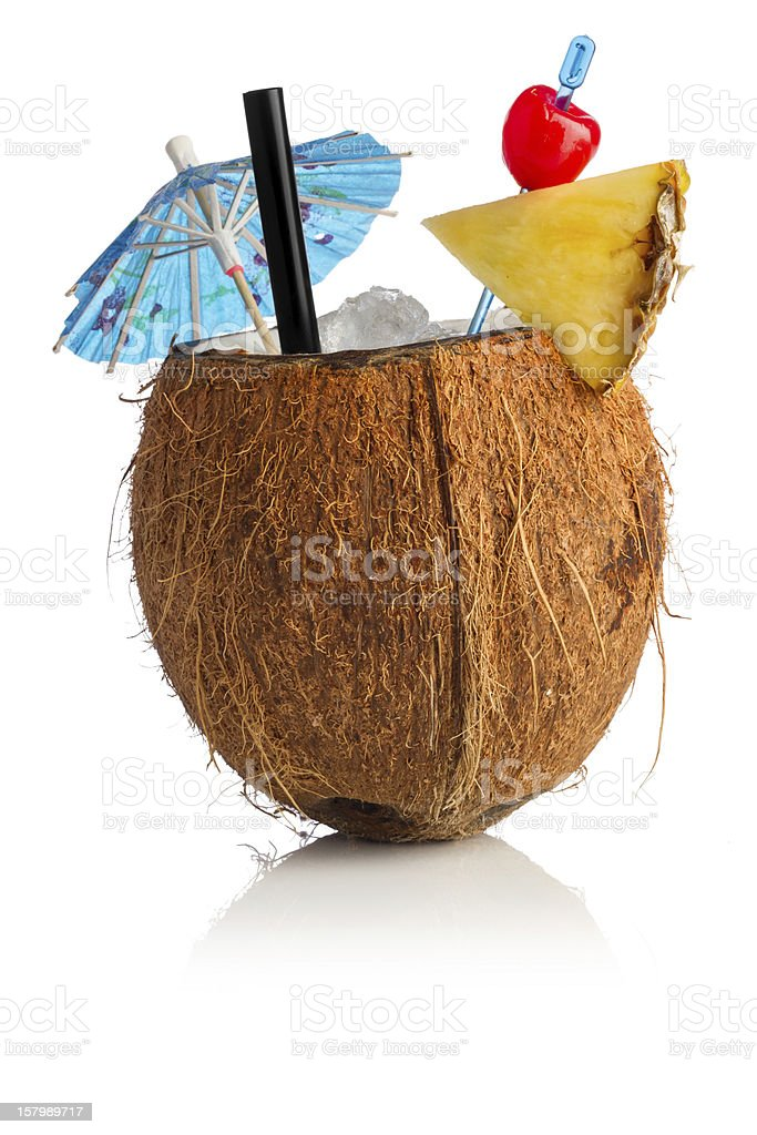 coconut cocktail stock photo
